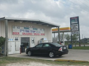 JT One Stop has gas, groceries, fishing supplies, cold beer, a grill, coffee, and more.
