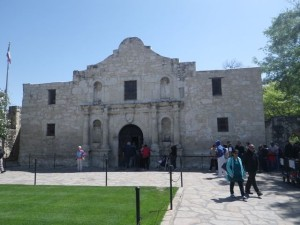 This is the iconic façade of the church that is now the Alamo shrine.