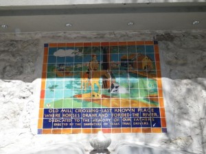 I saw a few of these mosaics telling the history of the area.